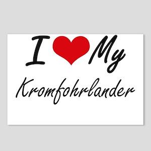 I love my Kromfohrlander Postcards (Package of 8)