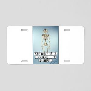 Republican Skeletal Remains Aluminum License Plate