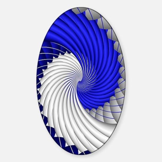 Fractal vicky Sticker (Oval)