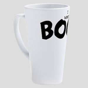 IWANTBOOB 17 oz Latte Mug