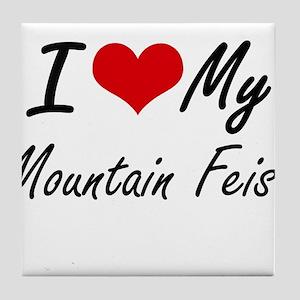 I love my Mountain Feist Tile Coaster