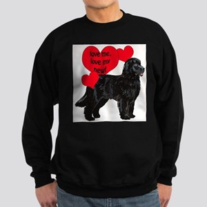 black newf love Sweatshirt