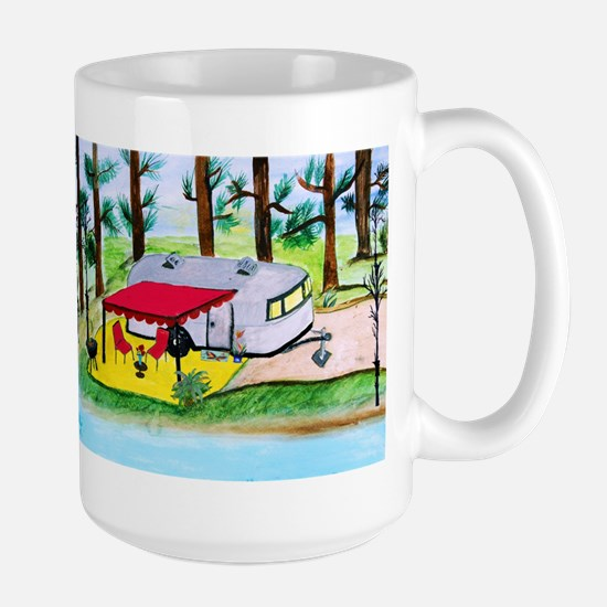 Air stream Camper on th Stainless Steel Travel Mug