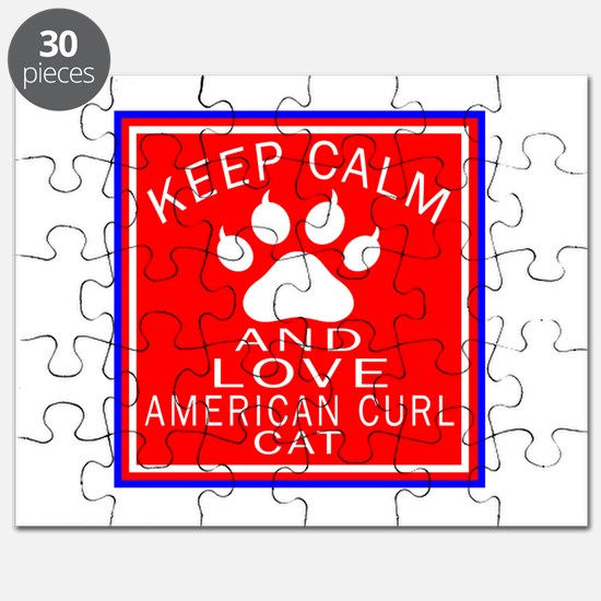 Keep Calm And American Curl Cat Puzzle