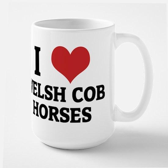 I Love Welsh Cob Horses Mugs
