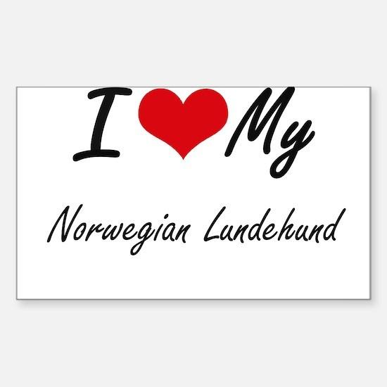 I love my Norwegian Lundehund Decal