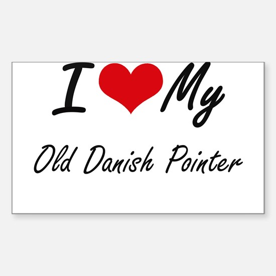 I love my Old Danish Pointer Decal