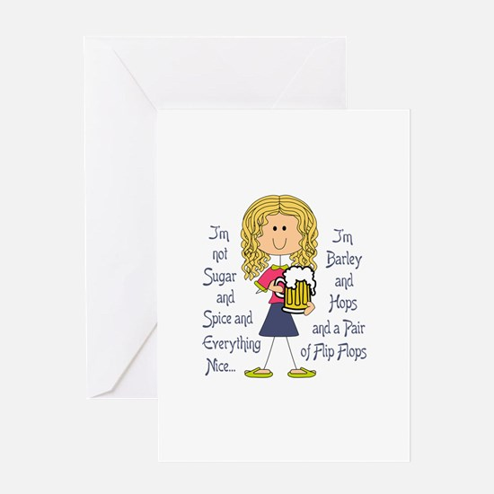 Not Sugar And Spice Greeting Cards