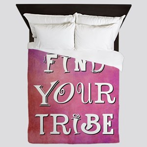 FIND YOUR TRIBE Queen Duvet