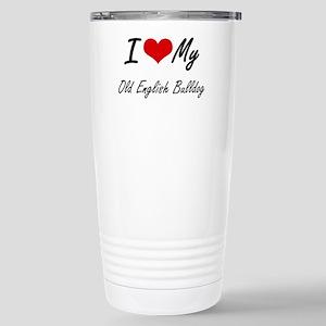 I love my Old English B Stainless Steel Travel Mug