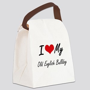 I love my Old English Bulldog Canvas Lunch Bag