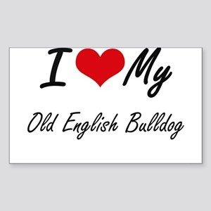 I love my Old English Bulldog Sticker