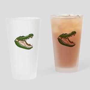 Gator Head Drinking Glass