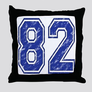 82 Jersey Year Throw Pillow