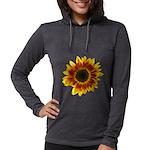 Star Burst Sunflower Womens Long Sleeve T-Shirt