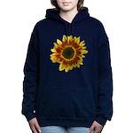 Star Burst Sunflower Women's Hooded Sweatshirt