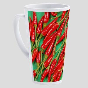 Red chili peppers 17 oz Latte Mug