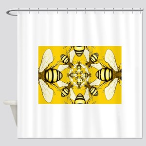 Beeometry Shower Curtain