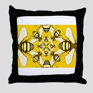 Beeometry Throw Pillow
