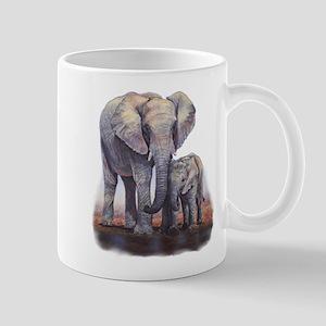 Elephants Mom Baby Travel Mugs