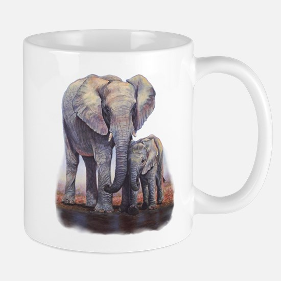 Elephants Mom Baby Travel Mugs