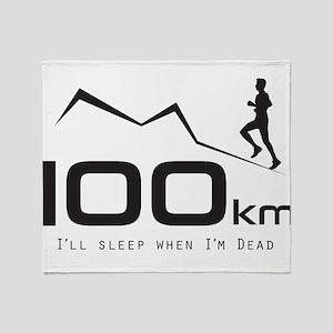 100K Ultra Runner Throw Blanket