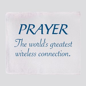 PRAYER - THE WORLD'S GREATEST WIRELE Throw Blanket