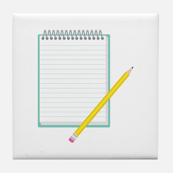 Paper & Pencil Tile Coaster