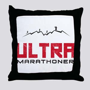 Ultra Marathoner Throw Pillow
