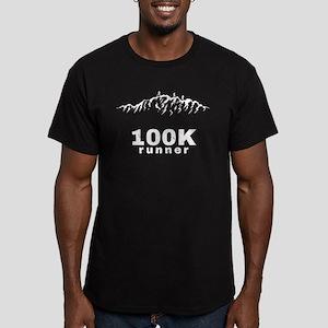 100K Ultra Runner Men's Fitted T-Shirt (dark)