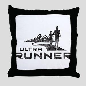 Ultra Runner Throw Pillow