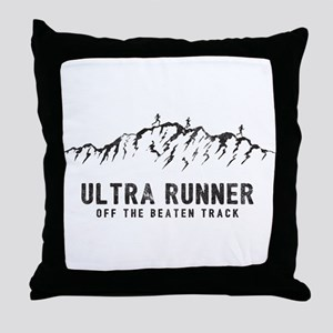 Ultra Runner Throw Pillow