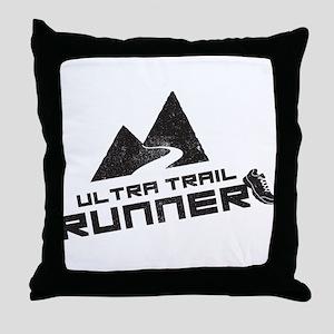 Ultra Trail Runner Throw Pillow