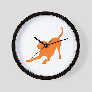 Lab 1C orange Wall Clock