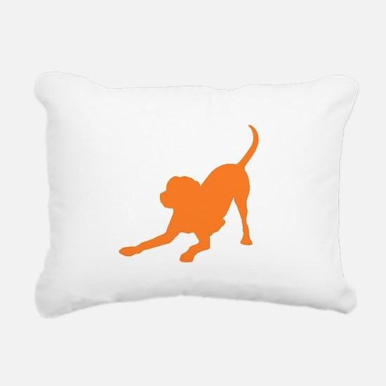 Lab 1C orange Rectangular Canvas Pillow
