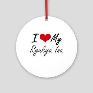 I love my Ryukyu Inu Round Ornament
