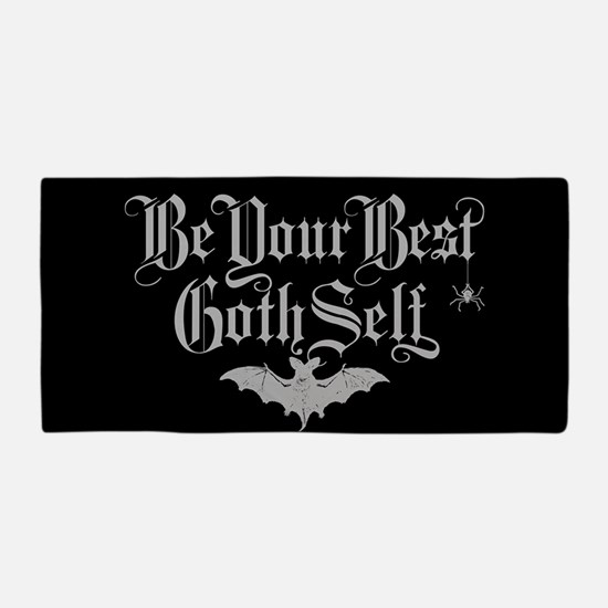 Be Your Best Goth Self Beach Towel