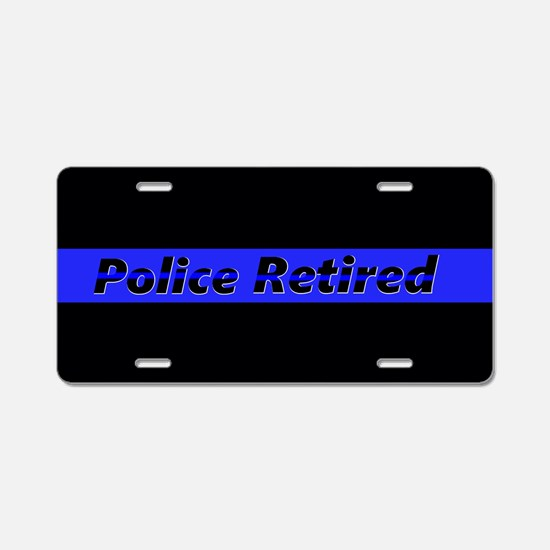 Police Retired Aluminum License Plate