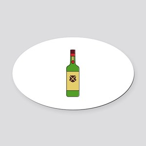 Irish Whiskey Oval Car Magnet