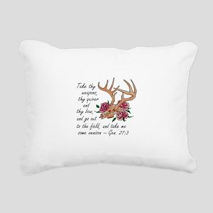 Bible Verse Hunting Rectangular Canvas Pillow