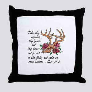 Bible Verse Hunting Throw Pillow