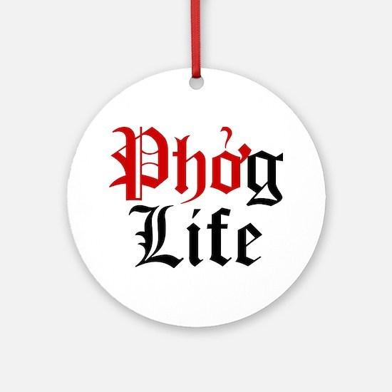 Phog Life Round Ornament