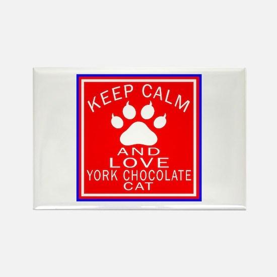 Keep Calm And York Chocolate Cat Rectangle Magnet