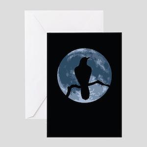 Crow Moon Greeting Card