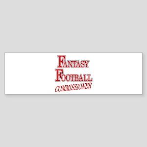 Fantasy Football Commissioner Bumper Sticker