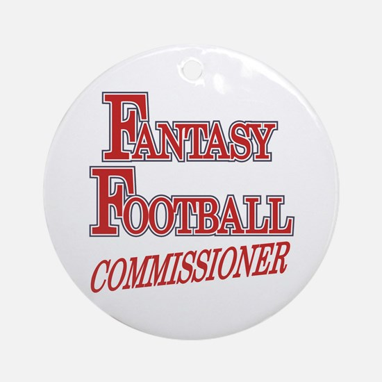 Fantasy Football Commissioner Ornament (Round)