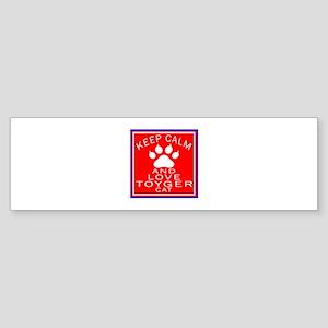 Keep Calm And Toyger Cat Sticker (Bumper)