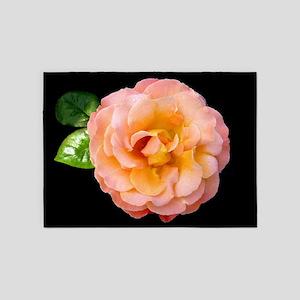Orange Rosa Rose 5'x7'Area Rug