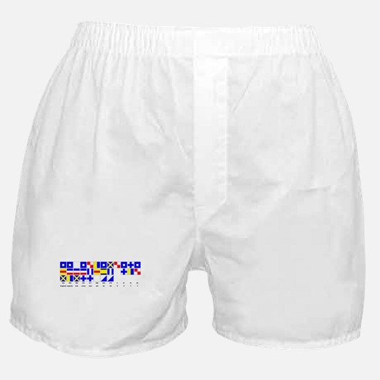 England Expects Signal Black text Boxer Shorts