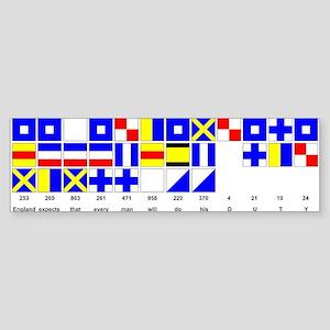 England Expects Signal Black text Bumper Sticker